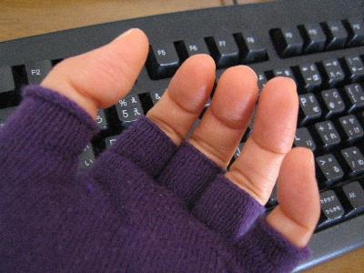 パソコン用の手袋