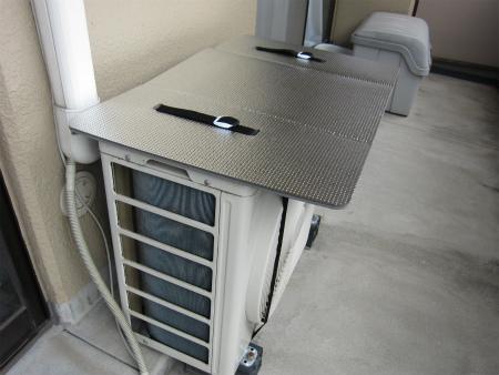 [節電対策]エアコンの室外機に日よけパネルを設置!