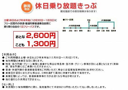静岡地区 休日乗り放題きっぷ