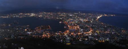函館の百万ドルの夜景